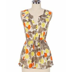 Anthropologie Generra Citrus Salad Top Size 0